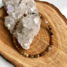 Petrified Wood Beaded Bracelet